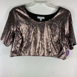 Ashley Nell Tipton for Boutique Sequin Crop Top